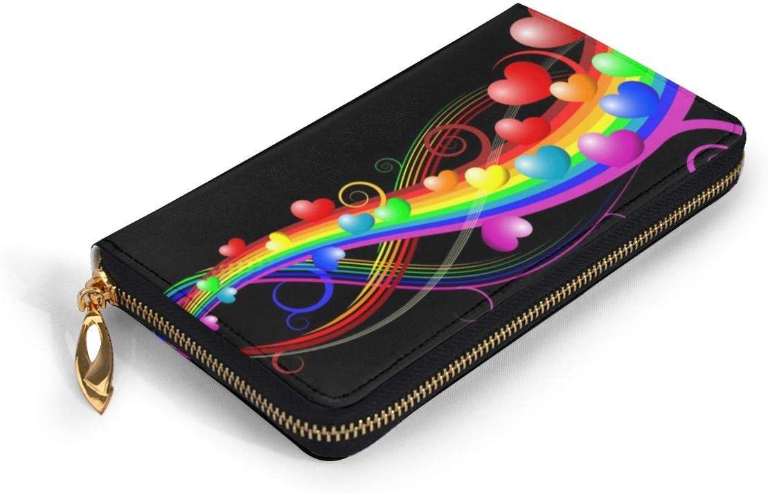 Women Genuine Leather Wallets Fantasy Pink Horse Credit Card Holder Organizer Ladies Purse Zipper Around Clutch Cash Pocket