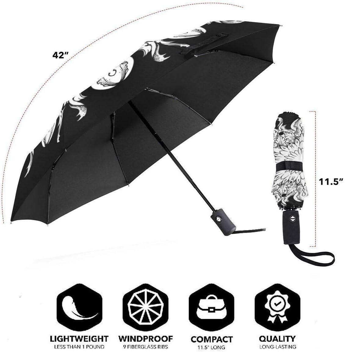 Reinforced Canopy Mandala Pattern Travel Uv Umbrella Lady Men-Automatic Open And Close Rain-Proof Sun-Proof And Wind-Proof Umbrella