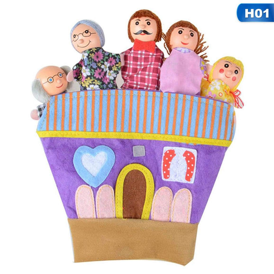 None Glove Castle Story SMIAO Cost-effective Soft Animal Family Hand Glove Puppet Cloth Doll Fingers Puppets Kids Child Toys