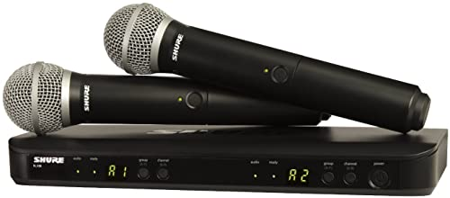 Shure BLX288/PG58 Dual Channel Wireless Microphone System