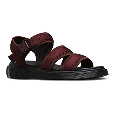 Dr Martens Effra Tech 2 Strap Sandal Mens New Shoes Oxblood WebbingNeoprene
