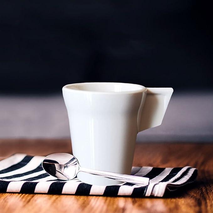 RB Expresso Tasse à café avec soucoupe Blanc Premium Plastique Incassable Réutilisable 7 C