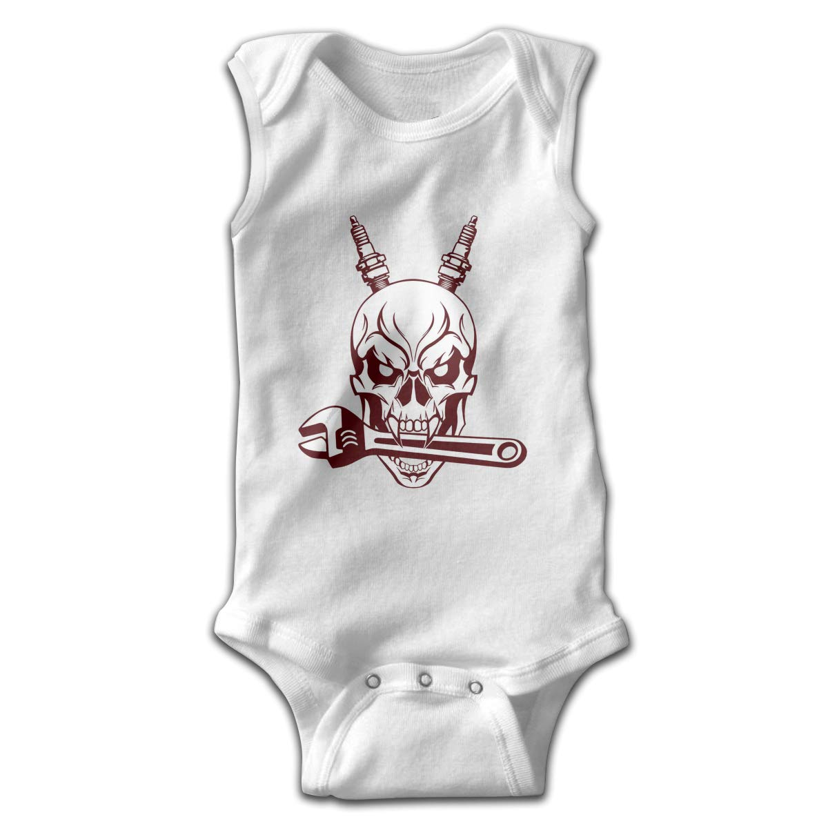 Efbj Toddler Baby Girls Rompers Sleeveless Cotton Onesie,Skull Tools Decal Outfit Summer Pajamas