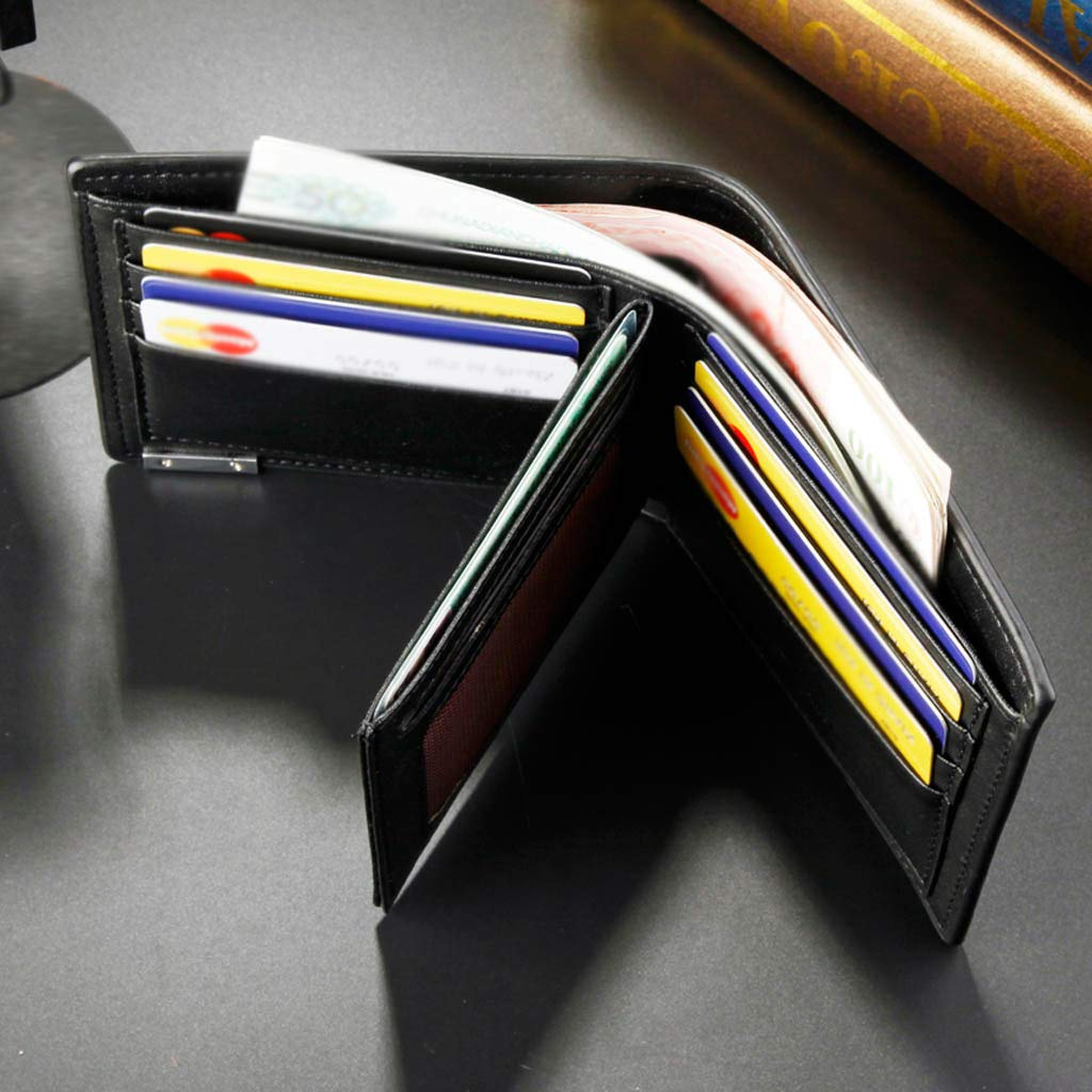 Chenway Slim Wallets for Men Multi-card Front Pocket Leather Wallet with Id Window Business Card Storage Wallet Gifts for Men
