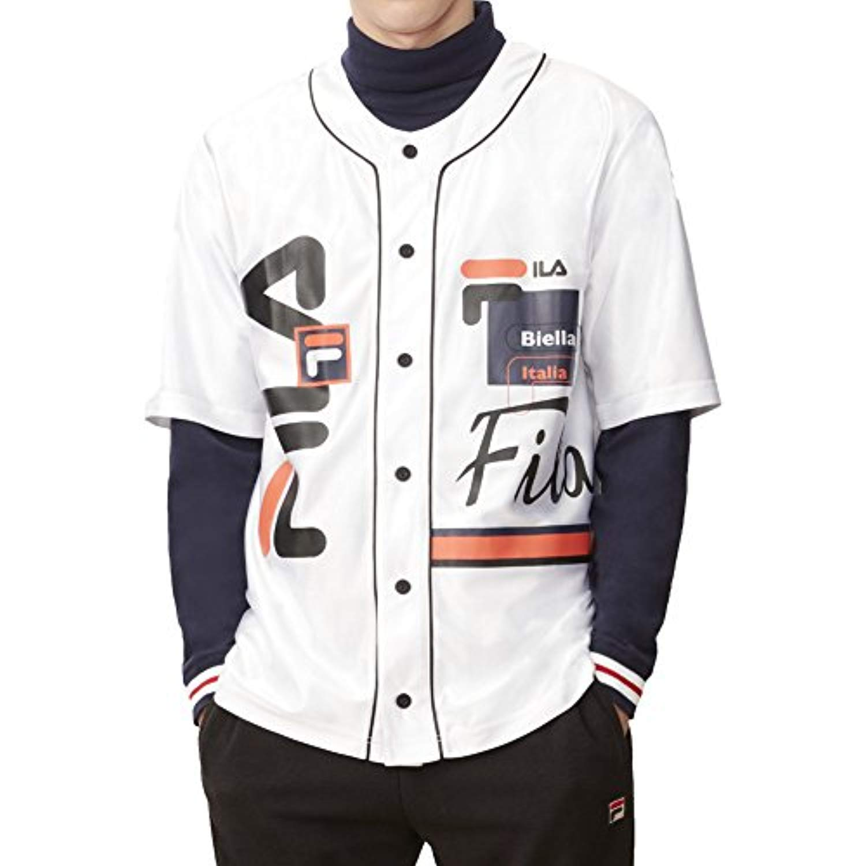 Fila Mens Brantley Baseball Shirt /& Cooling Towel Bundle