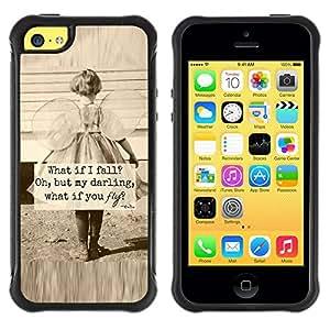 Suave TPU GEL Carcasa Funda Silicona Blando Estuche Caso de protección (para) Apple Iphone 5C / CECELL Phone case / / little girl sepia mother love inspiring /
