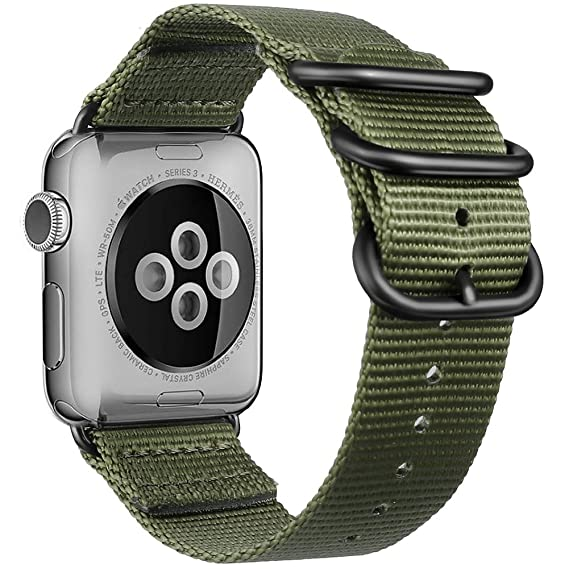 Fnova apple watch 38 correa, Nylon Quick Release Adapters correa de reloj para Apple Watch