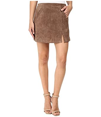 Blank NYC Womens Camel Suede Mini Skirt in Midnight Toker at Amazon Women's  Clothing store: