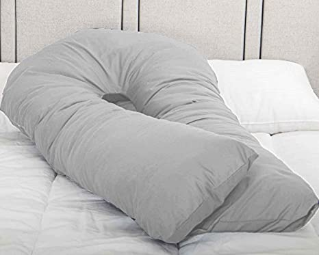 Cover 12 FT Long C/_U Shaped Long Cuddle Maternity Pregnancy Support Pillow