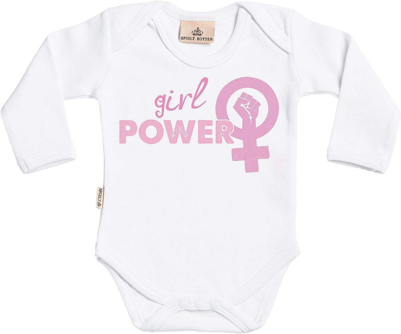 Coffrets Cadeaux pour Coton Bio Spoilt Rotten Girl Power Baby Girl Body b/éb/é V/êtements b/éb/é