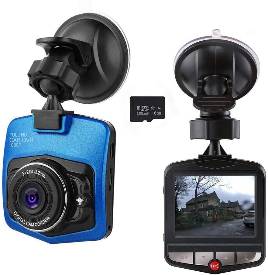 Black Mini Dashcam Dashboard Camera Recorder Full Hd Elektronik
