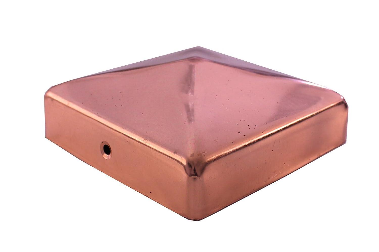 Stück Pfostenkappe Pyramide Edelstahl 121 x 121 mm 1