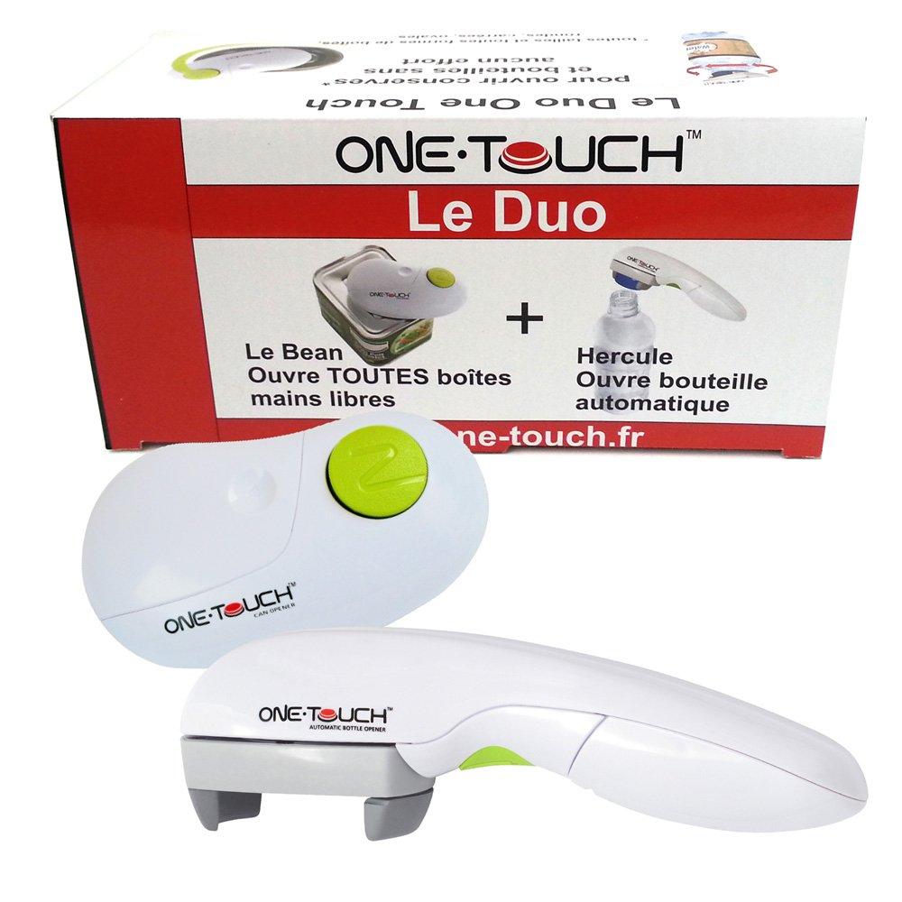 Le duo One Touch–Abrelatas y abrebotellas botella automáticos