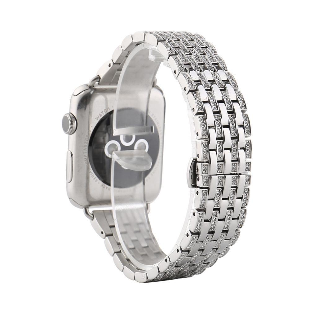 Ankola Luxury Personalized Watchバンドステンレススチールクイックリリース時計ストラップfor Apple Watch 38 mm / 42 mm 38mm シルバー 38mm シルバー シルバー 38mm B072FK83R7