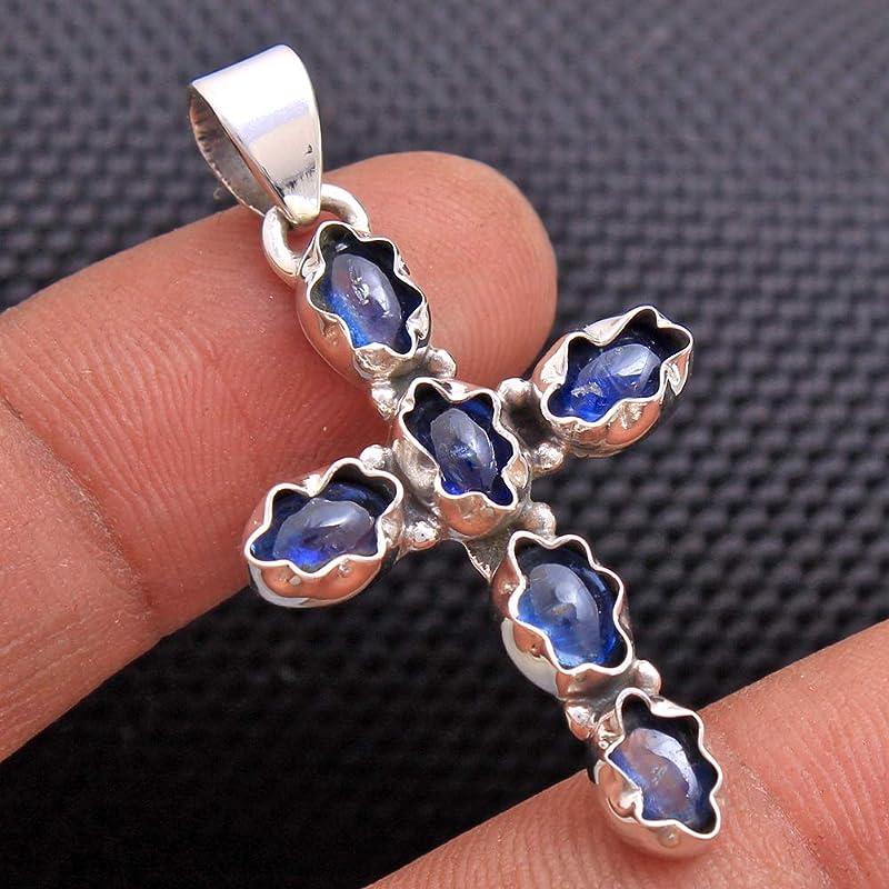 Natural Kyanite Pendant,Kyanite Pendant,Handmade 925 Sterling Silver Pendant,Blue Gemstone Pendant,Birthstone Gift Pendant,Gift for her