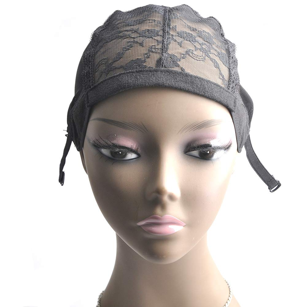 5 Pieces/lot Weave Lace Wig Cap Black for Women for Making Wigs with Adjustable Strap on the back Weaving Cap one Size Glueless Wig Caps Accessories Ross Beauty by Ross Beauty