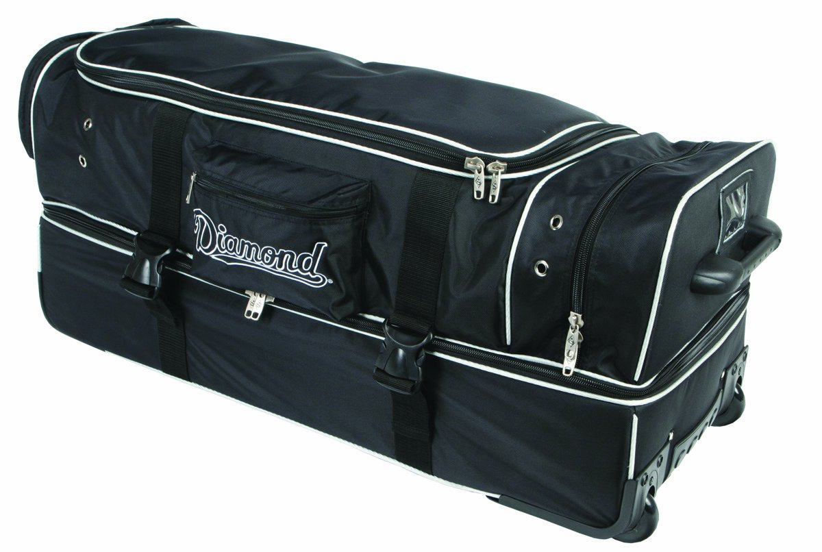 Diamond Sports Deluxe Wheeled Umpire Bag (33-Inch)