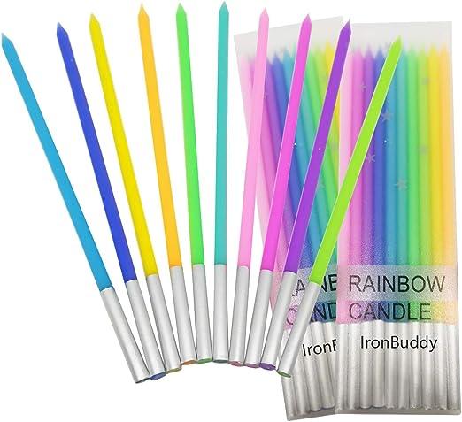 Amazon.com: IronBuddy - Velas metálicas para tartas de ...