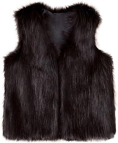 Winter Warm Vest Thick Outwear Coat Lotus.flower Baby Girls Faux Fur Waistcoat