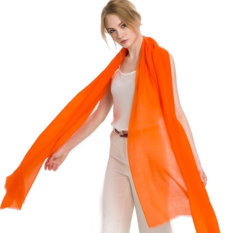 Mingxin womens fashion smooth cashmere scarf long length 10 colors shawl wrap