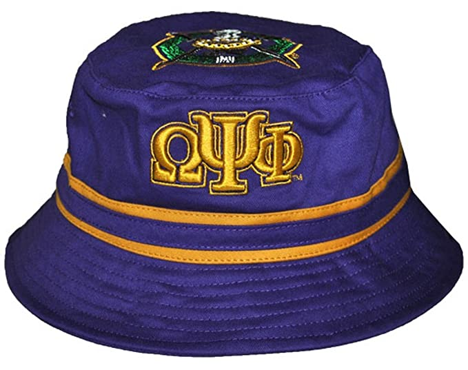 1e98d440273b2 Image Unavailable. Image not available for. Color  Omega Psi Phi Fraternity  Mens Bucket Hat Purple