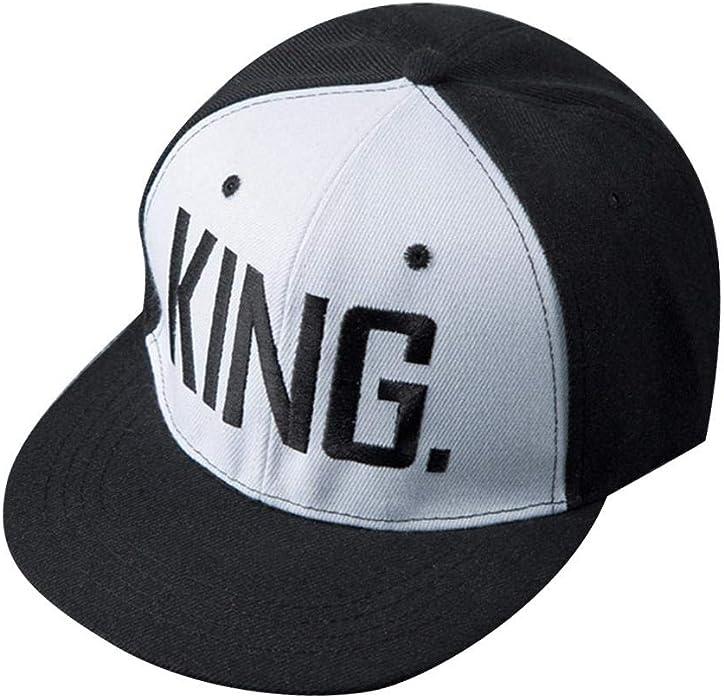 GLOGLOW Gorra de béisbol, Moda Chicos Chicas Unisex Letras de Punto Gorras de béisbol Peaked Snapback Hat