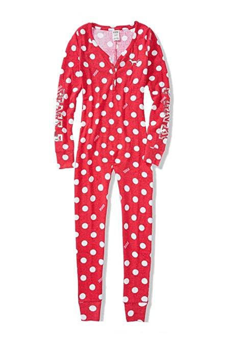 4aee5147c6 Amazon.com  Victoria s Secret PINK Onesie Pajama Bling Polka Dot Small   Everything Else