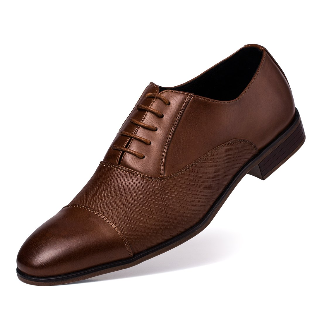 Jivana Oxford Business Dress Shoes for Men Lace-up (13, TAN-6)