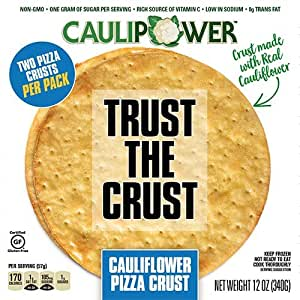 CAULIPOWER Cauliflower-Crust Pizza, Plain Crust, 4-pack