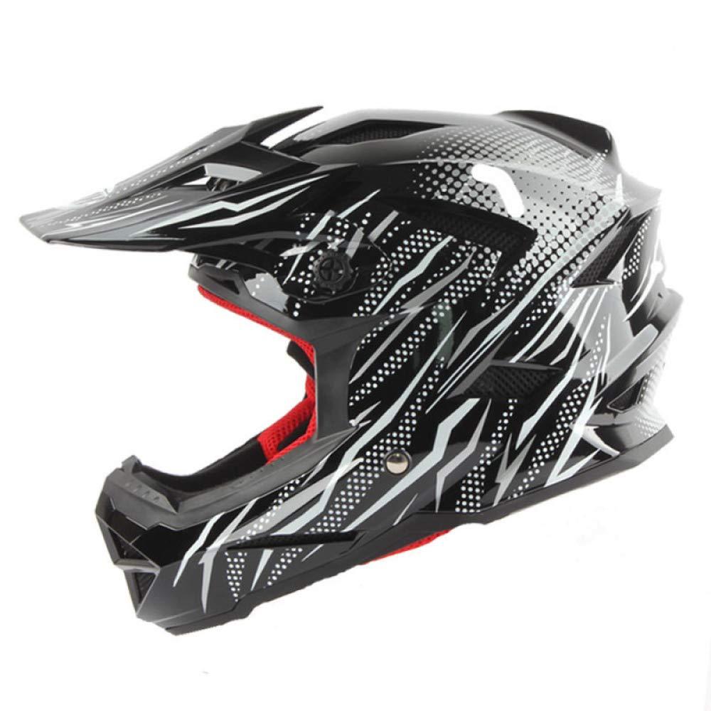 AEMAX, Professioneller Fahrradhelm Für Erwachsene Für Kinder, Motorrad-Offroad-Helm, BMX-Downhill-Helm, CE-CPSC-Sicherheitszertifikat, S-XXL,C-M=57-58cm