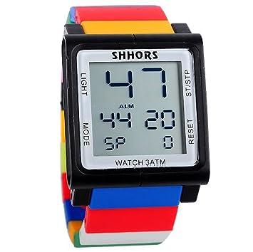CursOnline - Reloj digital con pantalla táctil, unisex y niño, resistente al agua, Shhors Original, bloques multicolor: Amazon.es: Electrónica
