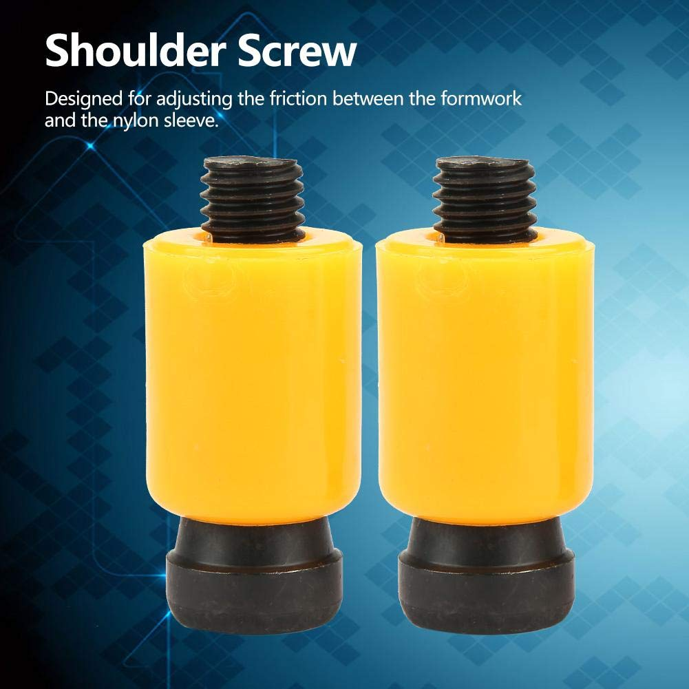 Nylon Lock Shoulder Screw,Socket Head Shoulder Screw,Shoulder Screw Bolt,Lock Socket Head Shoulder Screw Bolt Kit,DN24 M12 Screw Thread,Nylon Resin /& High Strength Alloy Steel
