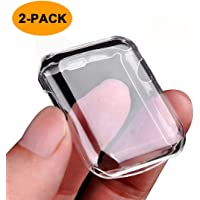 Julk iwatch Screen Protector TPU All-Around Protective Case 0.3mm hd Clear Ultra-Thin Cover for 2017 New Apple Watch Series 3 (42mm)