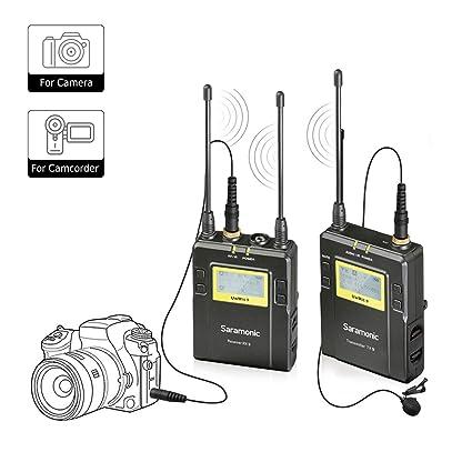 Saramonic Uwmic9 UHF Sistema de micrófono inalámbrico de 96 ...