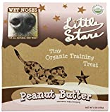 Wet Noses Little Stars Dog Training Treats, Made in USA, 100% All Natural Organic Ingrediants, Peanut Butter, 9 oz Box