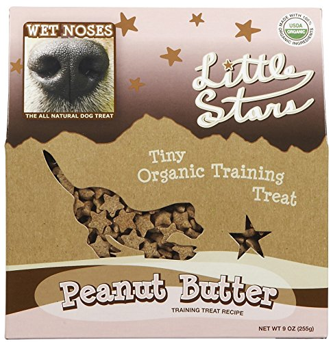 WET NOSES ALL NATURAL DOG TREATS Wet Noses Little Stars Dog Training Treats, Made in USA, 100% All Natural Organic Ingrediants, Peanut Butter, 9 oz Box