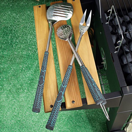 Charcoal Companion Golf Club 3-Piece Barbecue Tool Set