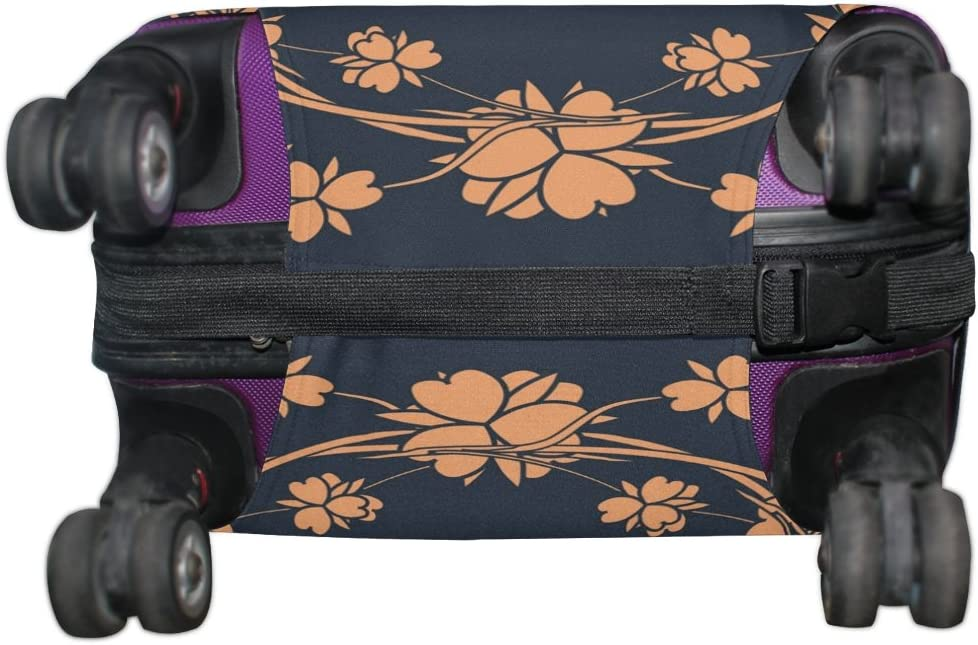 LEISISI Luggage Cover Floral Design Protector Cover Elastic Suitcase Cover XL 31-32 in