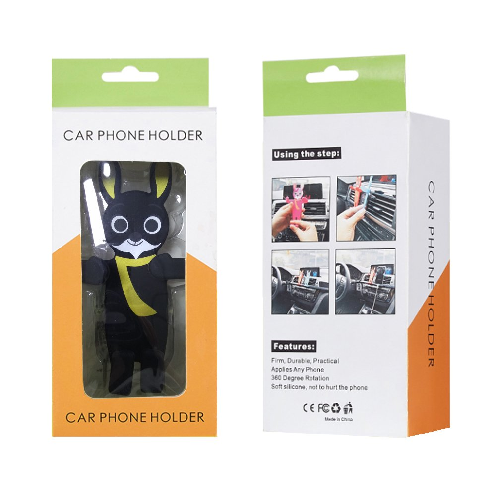 XUANTAI Universal Smartphone Car Air Vent Mount Holder Cradle Cartoon Compatible with iPhone X 8 Plus 7 7 Plus Samsung Galaxy Note Google Nexus and More