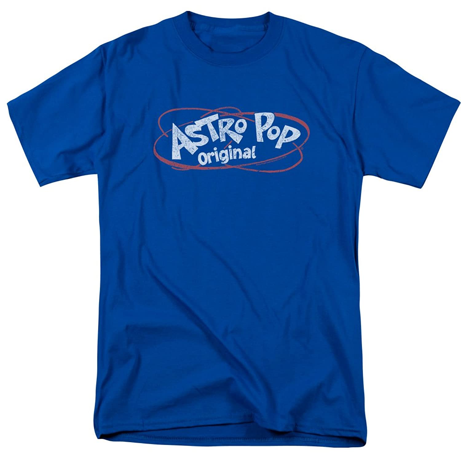 Astro Pop 1960's Rocket Pop Candy Distressed Vintage Logo Rings Adult T-Shirt