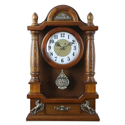 CLHXZE Reloj de Mesa Retro/Reloj de Escritorio - Reloj Europeo de ...