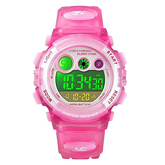 Reloj Digital para niños y niñas, Resistente al Agua hasta 50 m, para niños de 5 a 7 años, 7 a 10 y 10 a 15 años, con Alarma, cronómetro, Reloj de ...