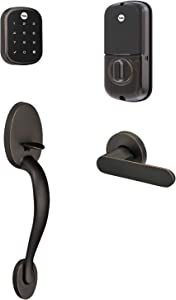 Yale Assure Lock SL, Wi-Fi Smart Lock with Jamestown Handleset - Works with the Yale Access App, Amazon Alexa, Google Assistant, HomeKit, Phillips Hue and Samsung SmartThings