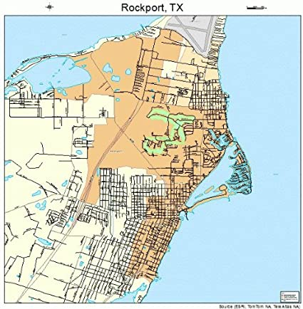 Map Rockport Texas Amazon.com: Large Street & Road Map of Rockport, Texas TX