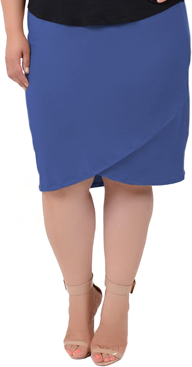 Stretch is Comfort Womens Plus Size Tulip Skirt