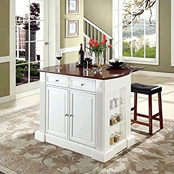 small kitchen island breakfast bar uk furniture drop leaf upholstered saddle stools white classic cherry islands bq