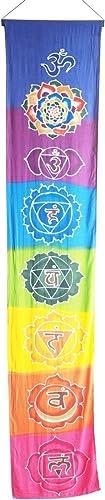 Hand Batiked Rainbow Chakra Seven Chakra Banner Wall Hanging Prayer Flag