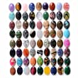 Wholesale Lot 24pcs Multi-color 30mm Oval Gemstone Cab Cabochon For Jewelry Making