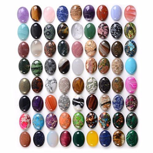 Wholesale Lot 24pcs Multi-color 30mm Oval Gemstone Cab Cabochon For Jewelry (Cabochon Gem)