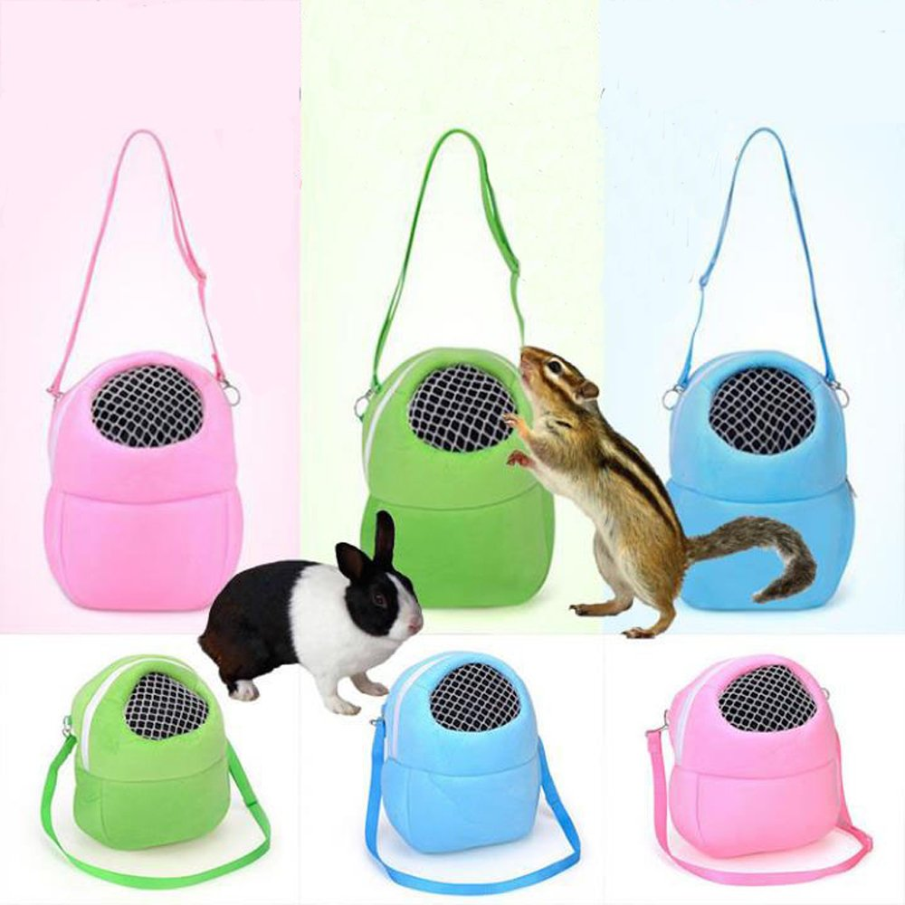 Pet Carrier Bag Soft-Sided Carriers Hamster Portable Breathable Outgoing Bag for Small Pets Small-Pink ximimark